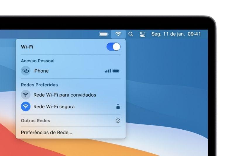 Como conectar o PC no wifi no Mac?